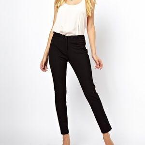 ASOS Black High-waist Skinny Trousers Size 8